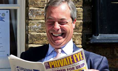 Nigel Farage on the local election campaign trail