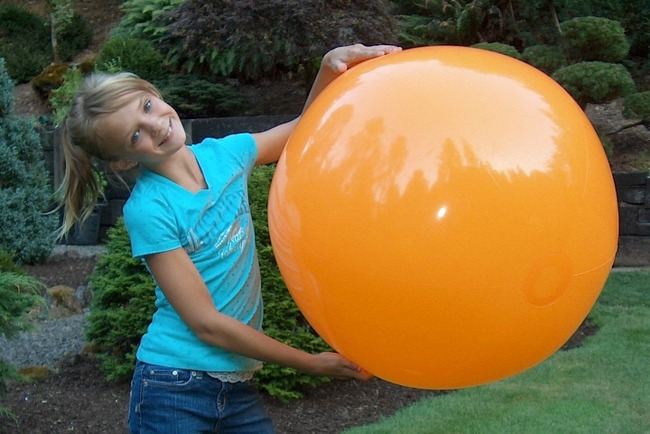 beach ball orange
